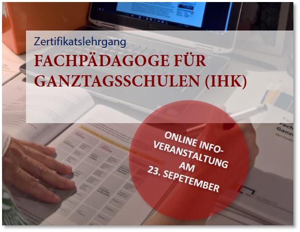 Einladung zur Informationsveranstaltung: Lehrgang Fachpädagoge für Ganztagsschulen